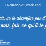 LA CITATION DU WEEK-END #2